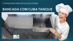 Mesa Pia Bancada Cuba Tanque direto com o fabricante Ideal Inox