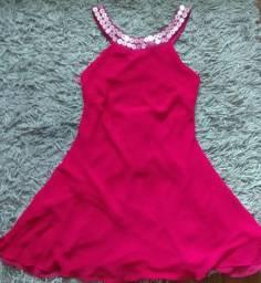 Vestido curto Vermelho - Tam único