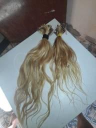 150 GM de cabelos brasileiro loiro 60 centímetros vendo por 450$ oportunidade
