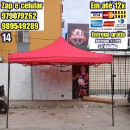 Título do anúncio: Tenda Sanfonada 3x3m e 2x2m galvanizada entrega grátis