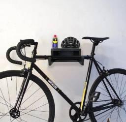 Suporte de madeira parede para Bike.