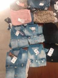 Lote  jaquetas , calças,etc.. 41 peças novas ,R$39 cada peça