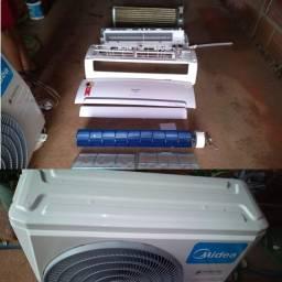 Instalação, desinstalação limpeza e manutenção em central de ar condicionado