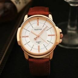 Relógio Masculino Pulseira de Couro Luxo