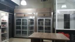 590-Refrigerador com portas de vidros ou cega - Fabricado por Inovare Inox