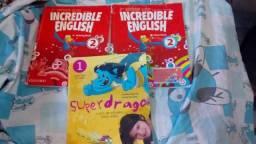 Livros de inglês e espanhol