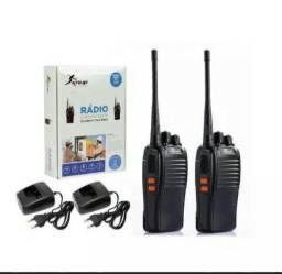 Kit 2 Rádios Comunicador Knup Dual Band / Dual Watch Alcance 5 km - Novo na Caixa