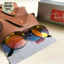 f30ca96ce3e63 Óculos de Sol Round Metal Espelhado