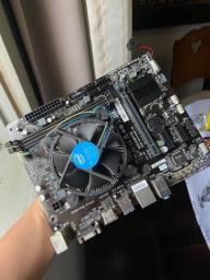 Vendo Placa mãe + Processador Intel