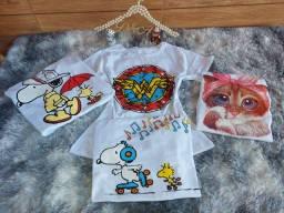 Blusa T shirt kit com 50 peças