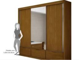 Guarda-roupa Annecy 3 Portas Com Espelho, Mel Valverde Móveis