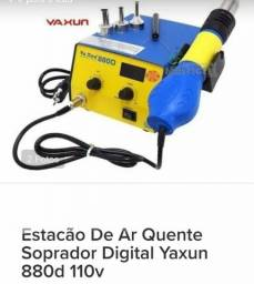 Estação de ar quente digital yaxun 880D + fonte de alimentação yaxun