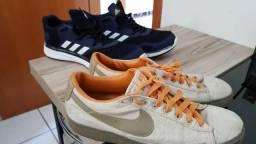 Tenis Adidas e Nike, original, tamanho 42