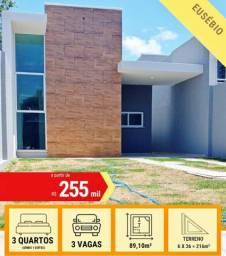 Casa Plana no Eusébio - Venda - R$ 255.000,00 - Pronta Para Morar!!!
