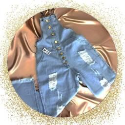 Macacão jeans pantalona