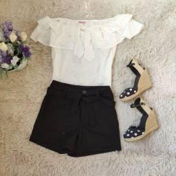Shorts preto M promoção