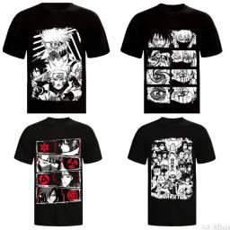 Camisa anime e rock de algodão 30.1