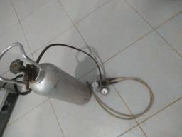 Cilindro para chopeira com manómetro 2 saída