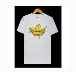 Kit 5 camiseta fio 30.1 penteado e lavadas