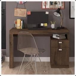Mesa Escrivaninha para Computador (1 Gaveta e 1 Porta) - Apenas R$269,00