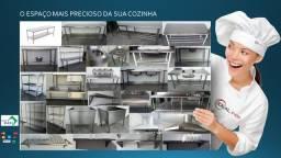 Cozinha Industrial Estante Tanque Pia Bancada trabalho Aço Inox