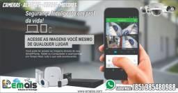 Kit Completo de câmera de segurança em 12x R$ 132,00 sem juro instalação Gratis