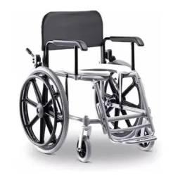 Cadeira De Banho de Rodas Hygienika Alumínio Ortobras