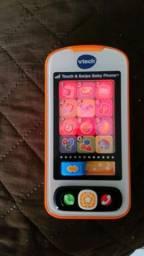Telefone Vtech Touch E Swipe Baby - audio em ingles