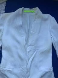 Blazer espaço fashion tamanho p branco