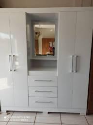 Guarda Roupa 4 portas com Espelho Casal Novo