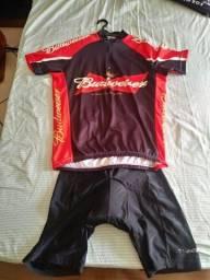 Conjunto ciclismo budweiser