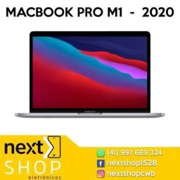 Promoção  MacBook PRO com chip M1, 256GB. Mod. 2020. Novo, lacrado. Loja física