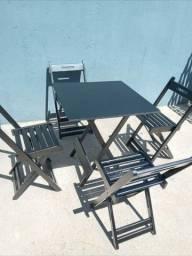 Título do anúncio: Mesa dobrável c cadeira novo # 10x sem juros no cartão
