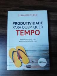 """Livro """"produtividade para quem quer tempo"""" 14 reais"""
