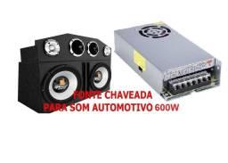 Fonte Chaveada Nova 12v 50amp para Carregamento de Bateria, Som