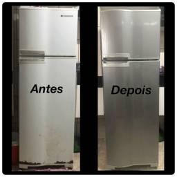 Envelopamento de geladeira.