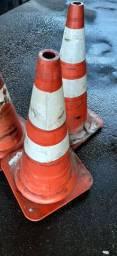 Cones para sinalização