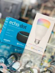 Kit echo dot + lâmpada inteligente