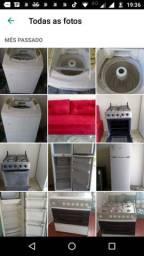 Geladeira, fogão, máquina de lavar,