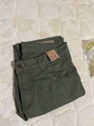 Título do anúncio:  Calça jeans Ecxo Verde Militar