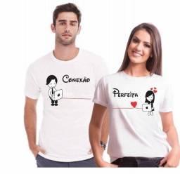 kit dia dos namorados 2 camisas de poliester personalizada