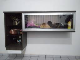 Móvel de Apoio com tampa de vidro (Cristaleira) p Sala ou Cozinha