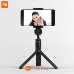 Original Xiaomi 2 em 1 Bluetooth Mini Bastão de Selfie Tripé Dobrável Extensível