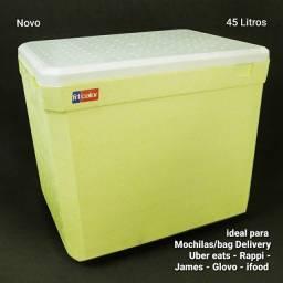 Caixa térmica de isopor 45 litros