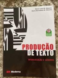 Livro Produção de texto interlocuçao e gêneros editora moderna