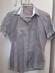 Camisa feminina le chemise manga curta
