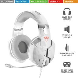 Título do anúncio: [Novo] Headset Gaming GXT322W Carus Snow Camo Trust
