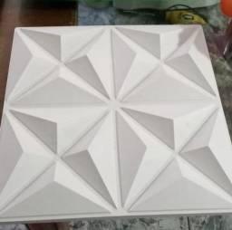 Placas decorativas de gesso 3 D
