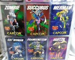 6 Cards Capcom Darkstalkers Night Warrior Anos 90 Fliperama