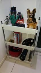 Carrinho / estante com prateleiras organizador tok stok